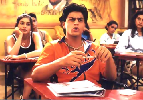 Rani Mukerji and Shah Rukh Khan in Kuch Kuch Hota Hai