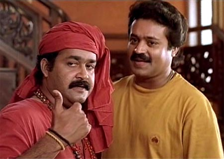 Mohanlal and Suresh Gopi in Manichitrathazhu