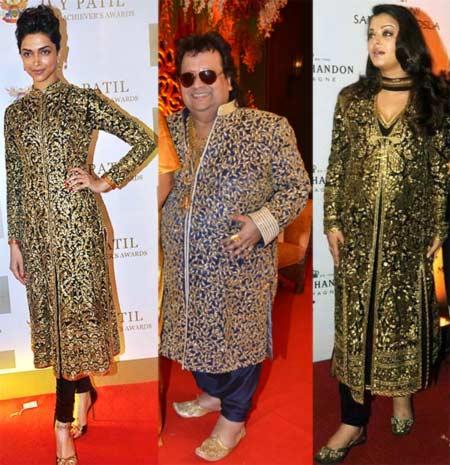 Deepika Padukone, Bappi Lahiri and Aishwarya Rai Bachchan