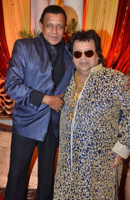 Mithun Chakraborty and Bappi Lahiri