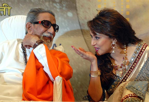 Bal Thackeray and Madhuri Dixit