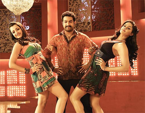 Trisha, NTR Jr and Karthika Nair