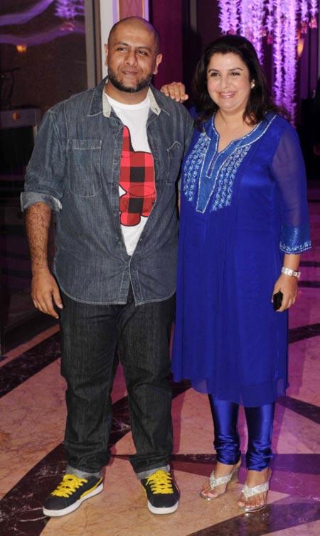 Vishal Dadlani and Farah Khan