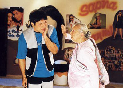 Govinda and Zohra Sehgal in Chalo Ishq Ladaye