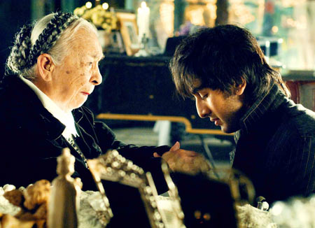 Zohra Sehgal and Ranbir Kapoor in Saawariya