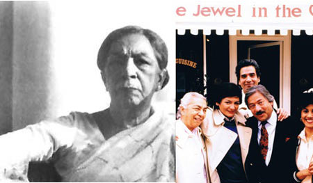 Zohra Sehgal with the cast of A Jewel In The Crown