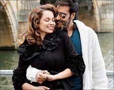 Kangna Ranaut and Ajay Devgn in Tezz