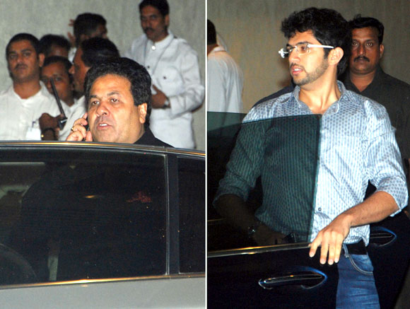 Rajiv Shukla and Aditya Thackeray