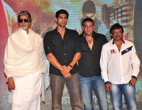 Amitabh Bachchan, Rana Daggubati, Sanjay Dutt and Ram Gopal Varma