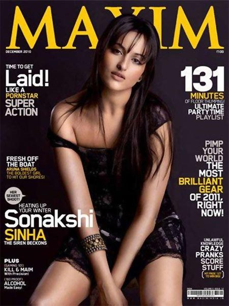 Sonakshi Sinha on Maxim magazine cover