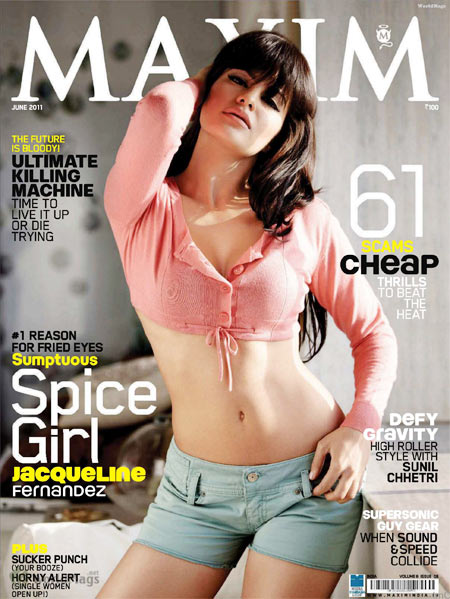 Jacqueline Fernandez on Maxim Magazine cover