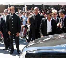 Amitabh Bachchan and Shah Rukh Khan at TIFF in 2006