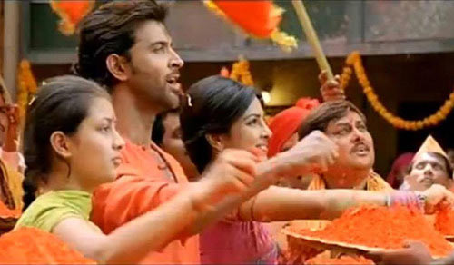 Kanika Tiwari, Hrithik Roshan and Priyanka Chopra in Agneepath