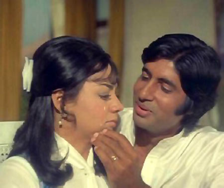Farida Jalal and Amitabh Bachchan in Majboor