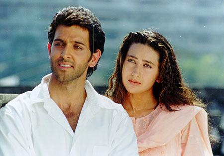 Hrithik Roshan and Karisma Kapoor in Fiza