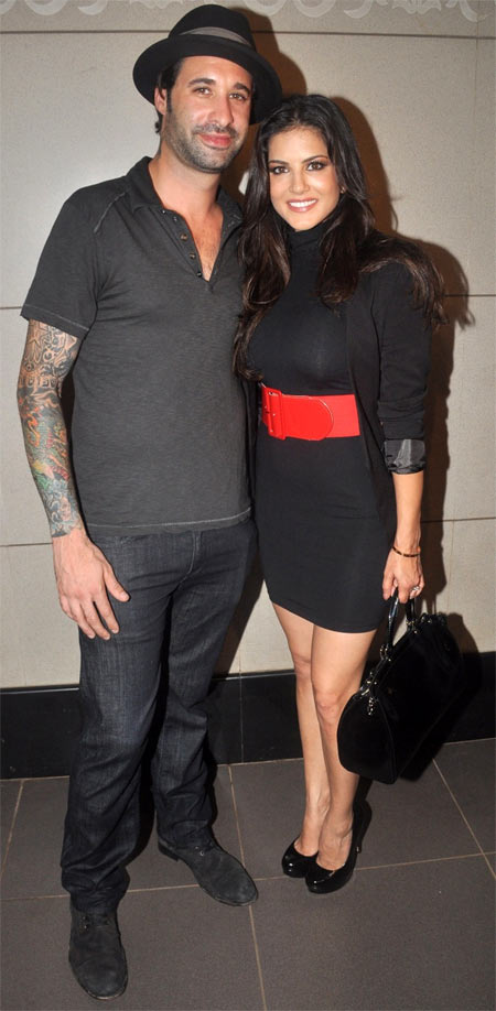 Daniel Weber and Sunny Leone