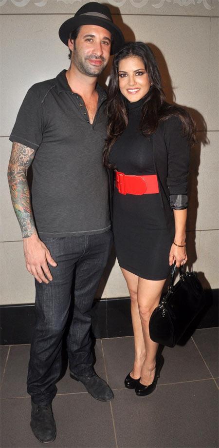 Daniel Weber and Sunny Leone