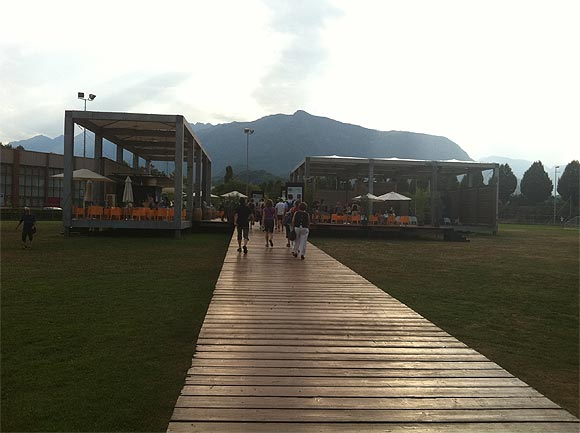 The venue of the Locarno film festival