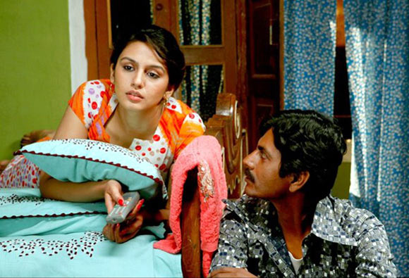 Huma Qureshi and Nawazuddin Siddiqui in Gangs Of Wasseypur 2