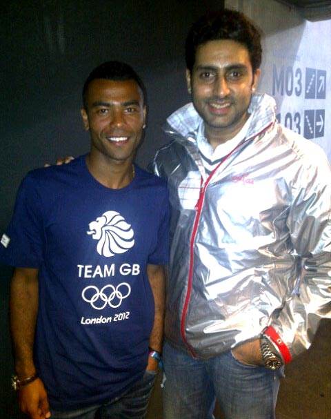 Ashley Cole and Abhishek Bachchan