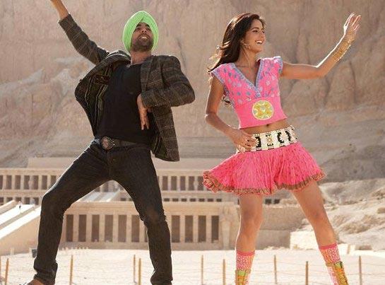 Katrina Kaif with Akshay Kumar in Singh Is Kingg