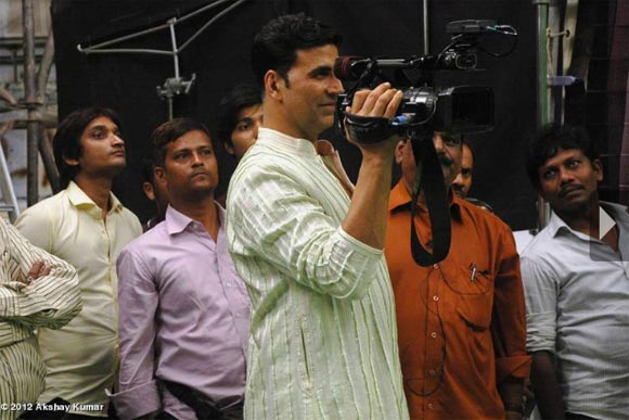 Akshay Kumar on the sets of Oh My God