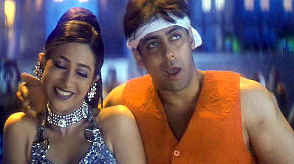 Karisma Kapoor and Salman Khan in Judwaa