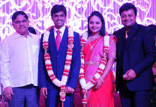 Allu Arvind with the bridal couple