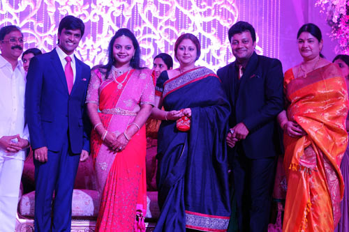 Jayasudha with the bridal couple