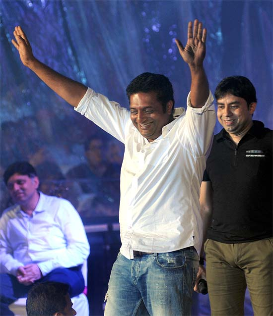 Popular South actor Prakash Raj was in his element as he attended the Worli Dahi Handi. Hrithik Roshan was also present at this event.