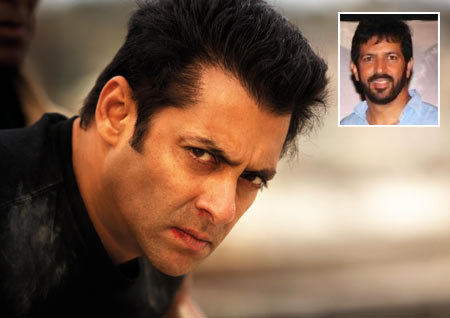 Salman Khan in Ek Tha Tiger. Inset: Director Kabir Khan