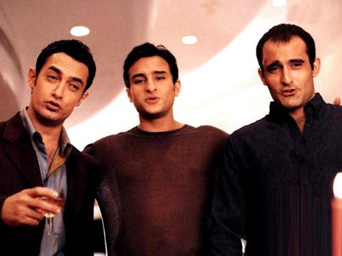 Aamir Khan, Saif Ali Khan and Akshaye Khanna in Dil Chahta Ha