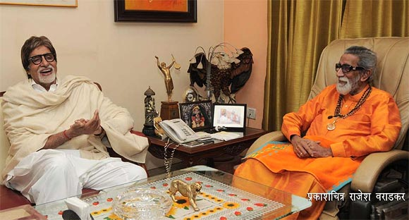 Amitabh Bachchan and Bal Thackeray