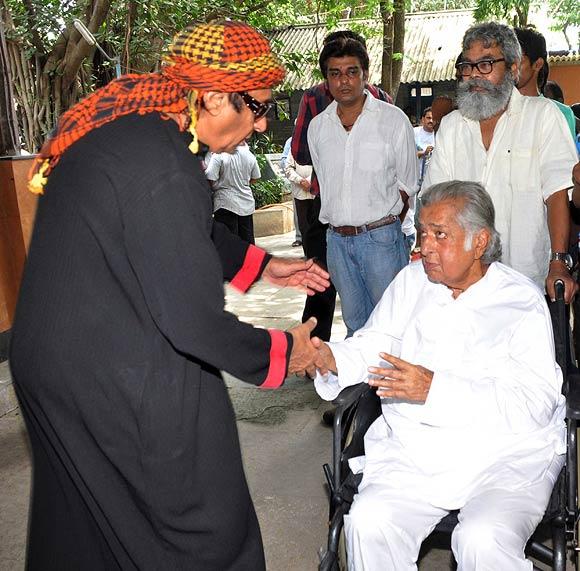 Ranjeet, Shashi Kapoor and Anupam Shah