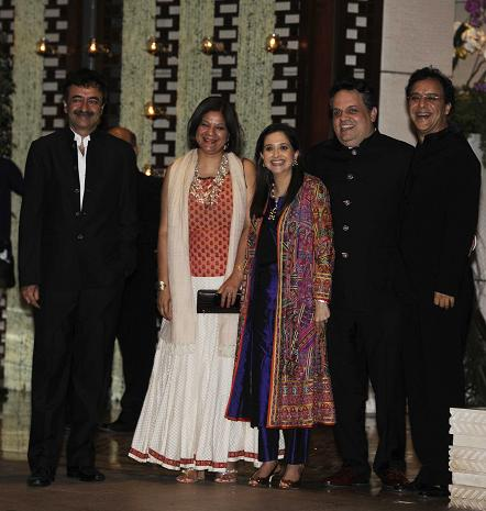 Rajkumar Hirani and his wife Manjeet, Anupama Chopra and Vidhu Vinod Chopra