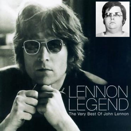 John Lennon. Inset: Mark David Chapman