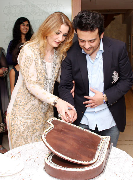 Adnan Sami with wife Roya