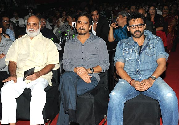 K Raghavendra Rao, Nagarjuna and Venkatesh
