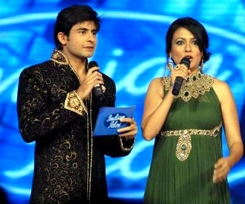 Mini Mathur and Hussain Kuwajerwala on Indian Idol