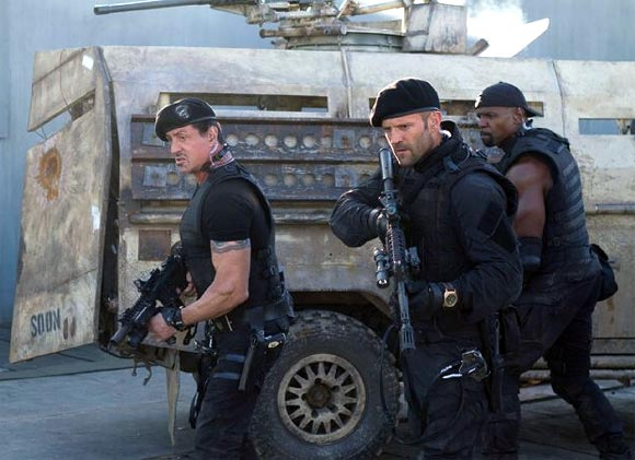 Sylvester Stallone and Jason Statham in The Expendables 2