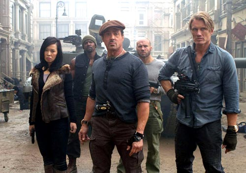 A scene from The Expendables 2