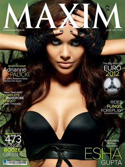 Esha Gupta on Maxim cover