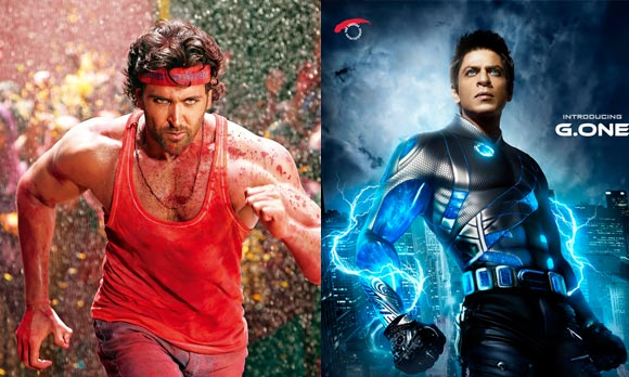 Hrithik Roshan in Agneepath and Shah Rukh Khan in Ra.One