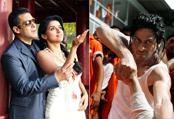 Salman Khan and Asin in Ready; Shah Rukh Khan in Don 2