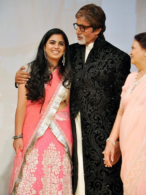 Isha Ambani, Amitabh Bachchan and Kokilaben Ambani