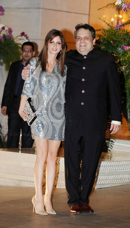 Sussanne Roshan with Sandeep Khosla
