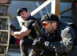 A scene from The Expendables