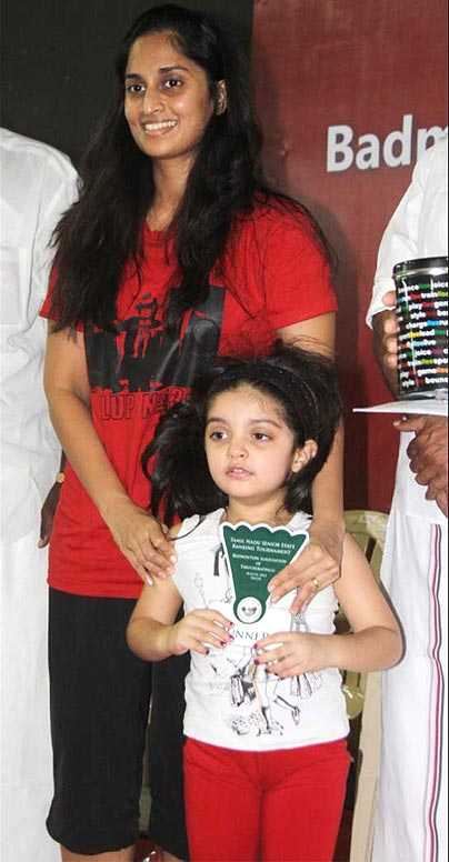 Shalini with her daughter