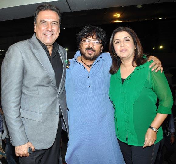 Boman Irani, Sanjay Leela Bhansali and Farah Khan