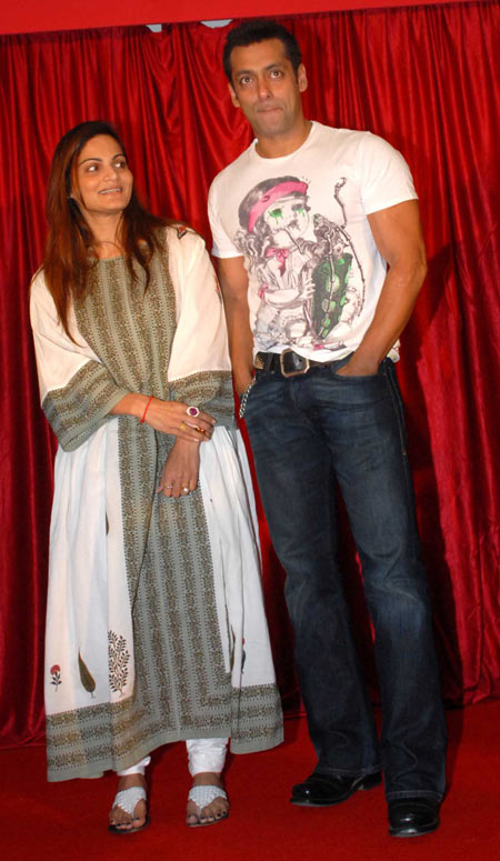Alvira and Salman Khan